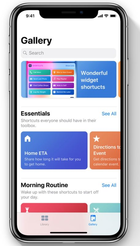 iOS 12  Shortcuts app