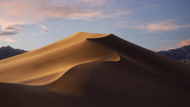 MacOS Mojave default wallpaper for daytime and light theme