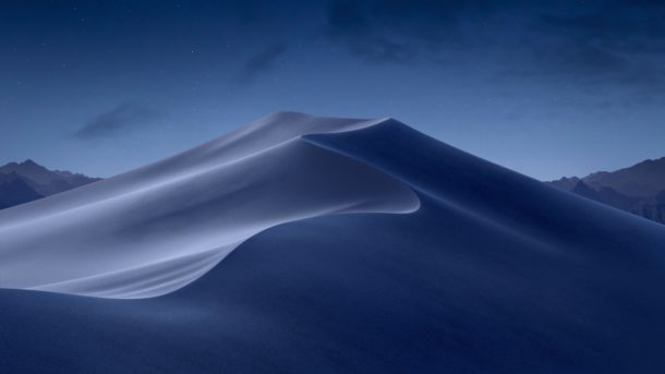 macOS Mojave night wallpaper bluer and lighter