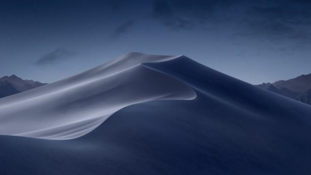 macOS Mojave night ligthened