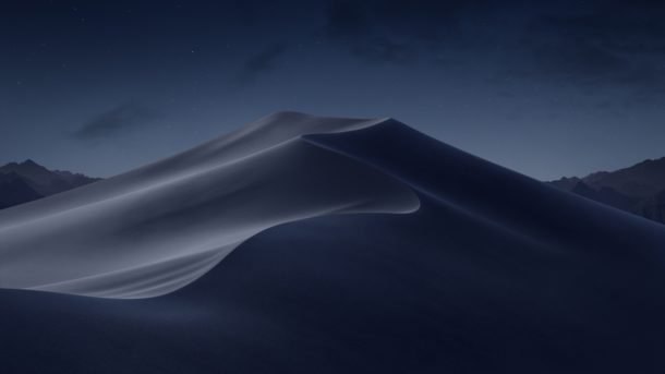 MacOS Mojave default wallpaper for night and dark theme