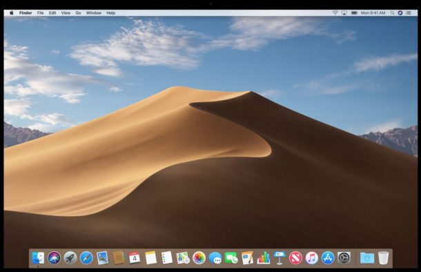 MacOS mojave dynamic desktop changing