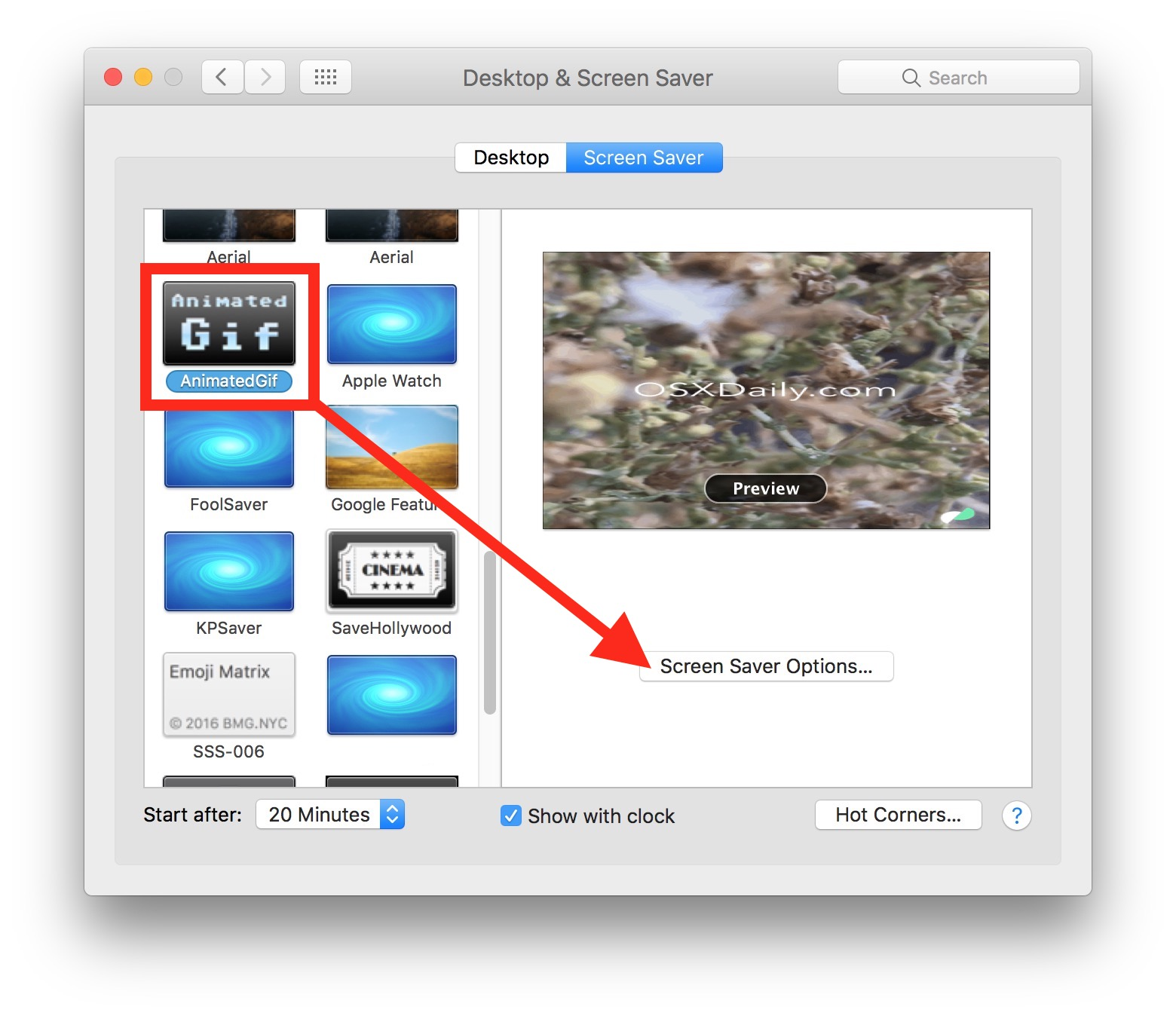 Use an animated GIF as screen saver on Mac