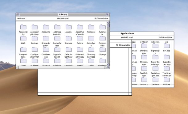 Classic Mac Finder in modern Mac OS