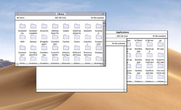 Classic Mac Finder in modern Mac OS