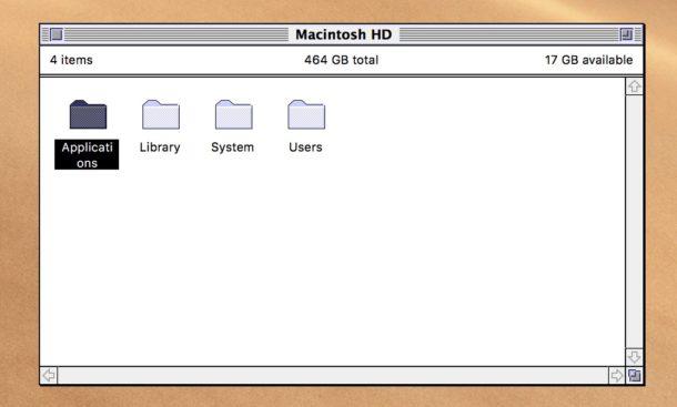 Macintosh Classic Finder in modern MacOS
