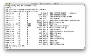 Get and install FTP in Mac OS