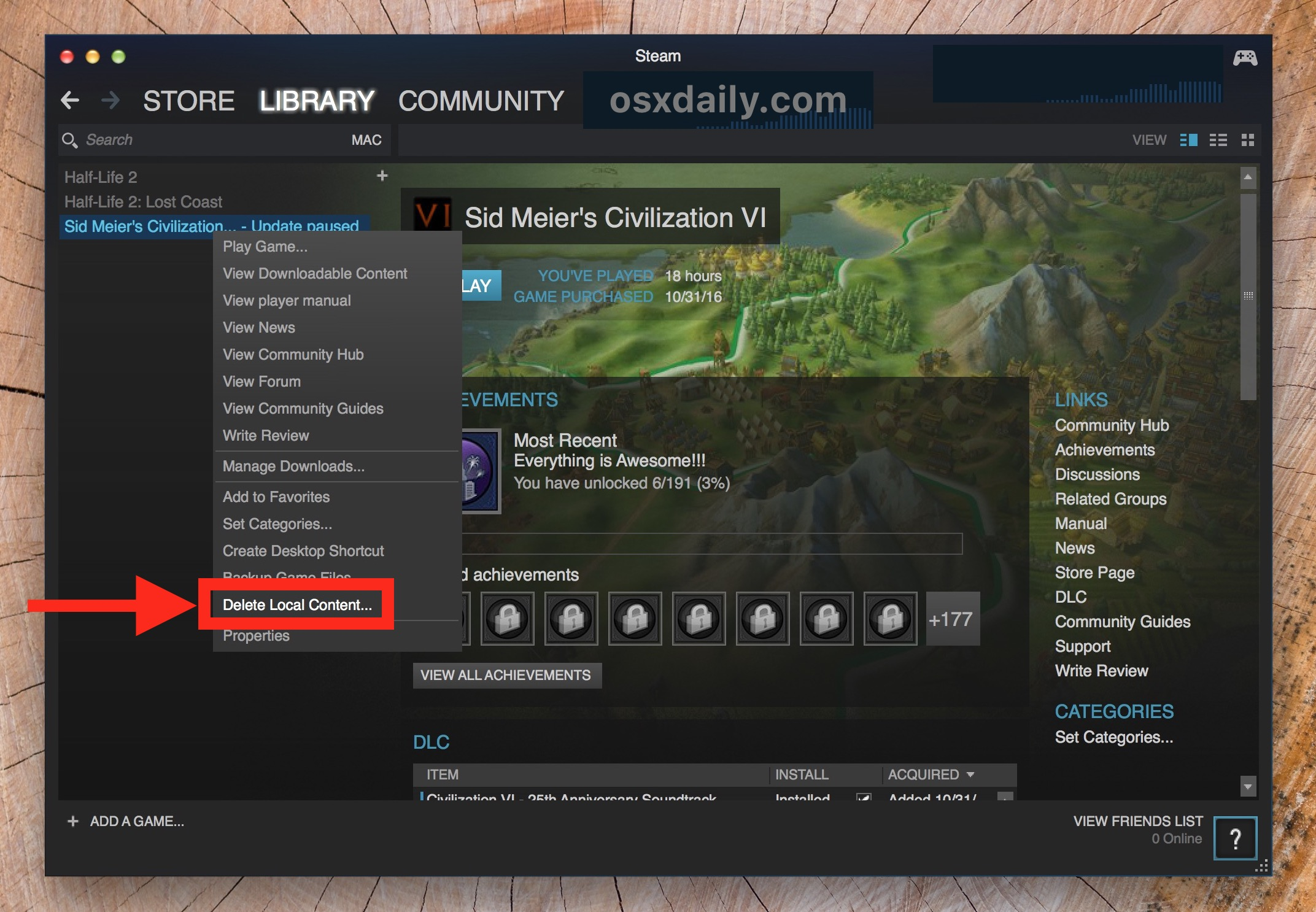 How to uninstall Steam games and delete the game from the computer