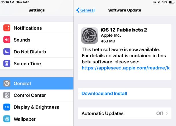 iOS 12 public beta 2 download available