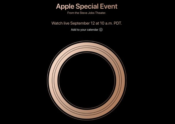 Apple Event for September 12 2018