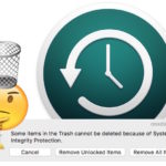 How to fix Time Machine backup stuck in Trash due to System Integrity Protection