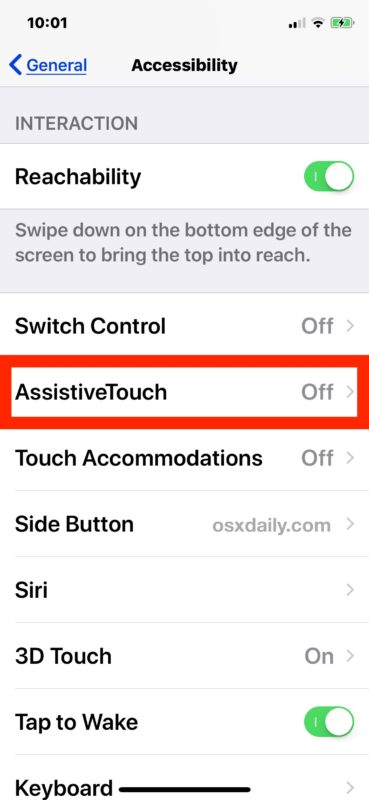 How to enable a touchscreen Home button on iPhone or iPad