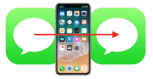 How to forward messages from iPhone