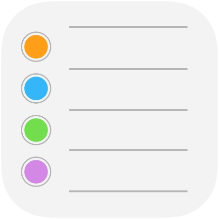 The Reminders app in iOS