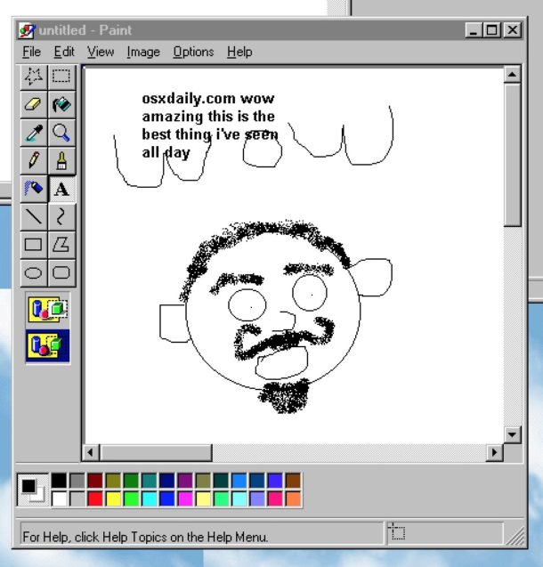 MSPaint on Modern Mac OS via Windows 95