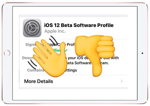 How to leave the iOS 12 beta program