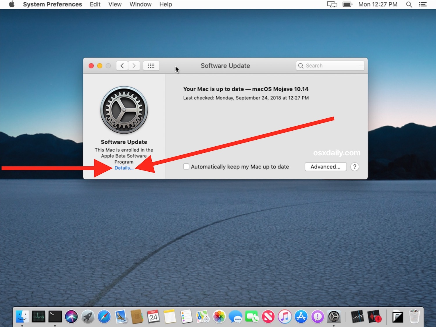 How to leave beta macOS testing and stop receiving Updates for beta system software