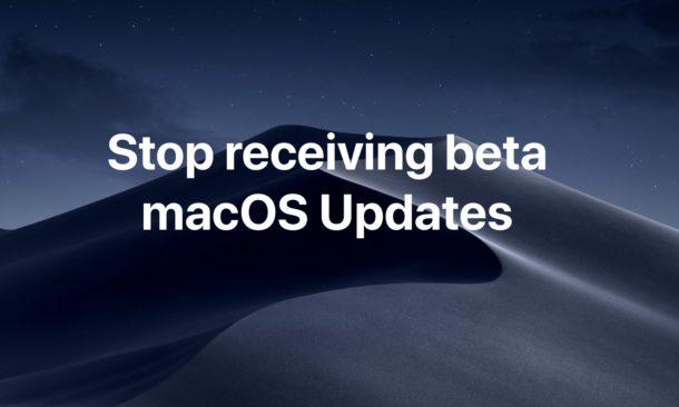 How to stop receiving beta MacOS updates