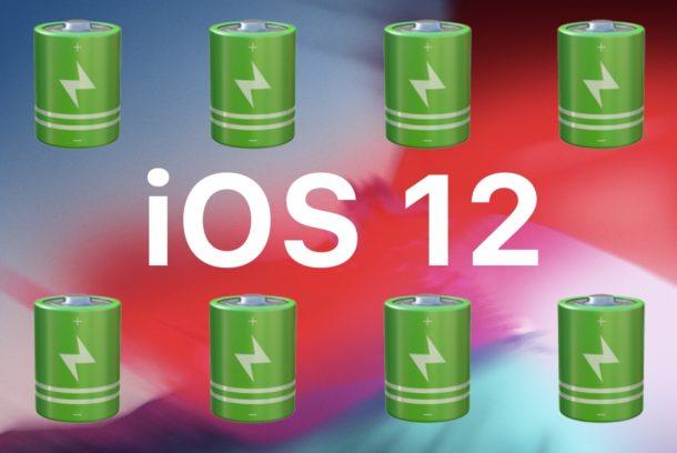 iOS 12 battery life