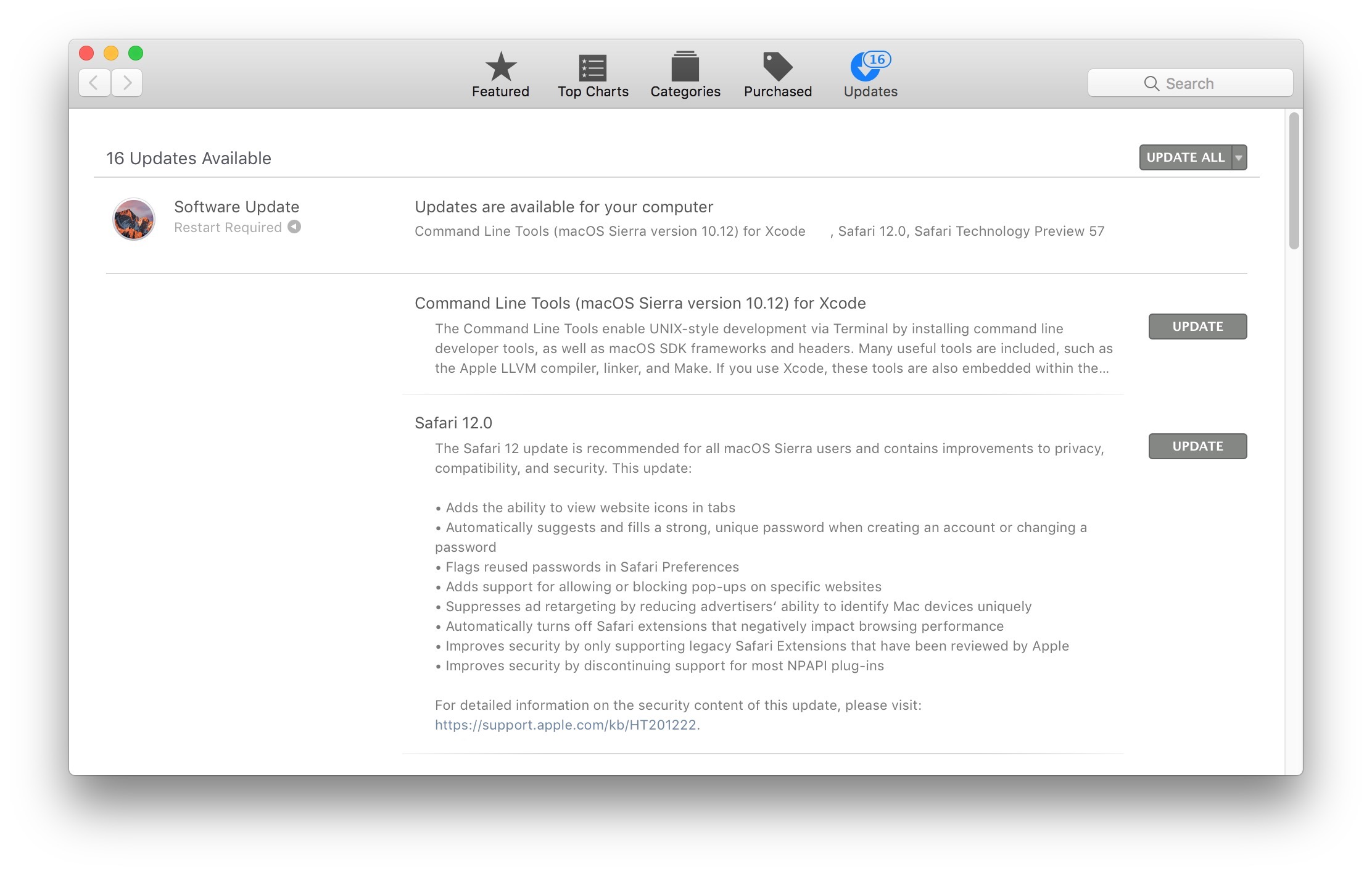 Safari 12 for Mac