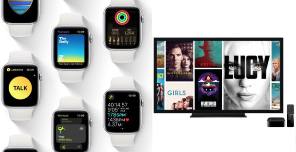 watchOS 5 and tvOS 12 updates available