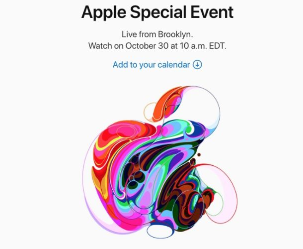 Apple Event invite for October 30 2018