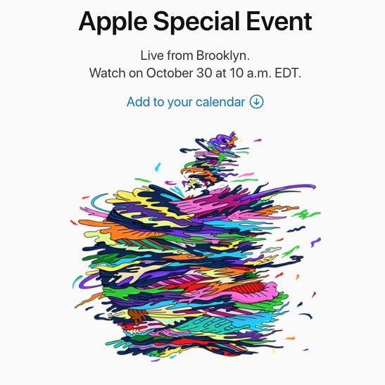 Apple event invites for October 30 2018