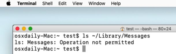 Operation Not Permitted error in Mac Terminal