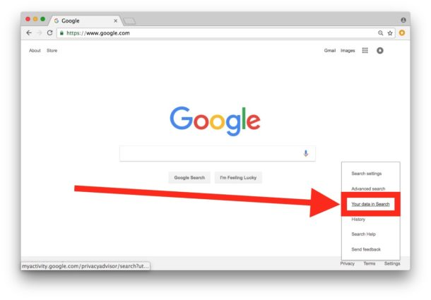 How to delete Google search activity