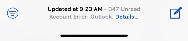 Fix Cannot Get Mail error iOS