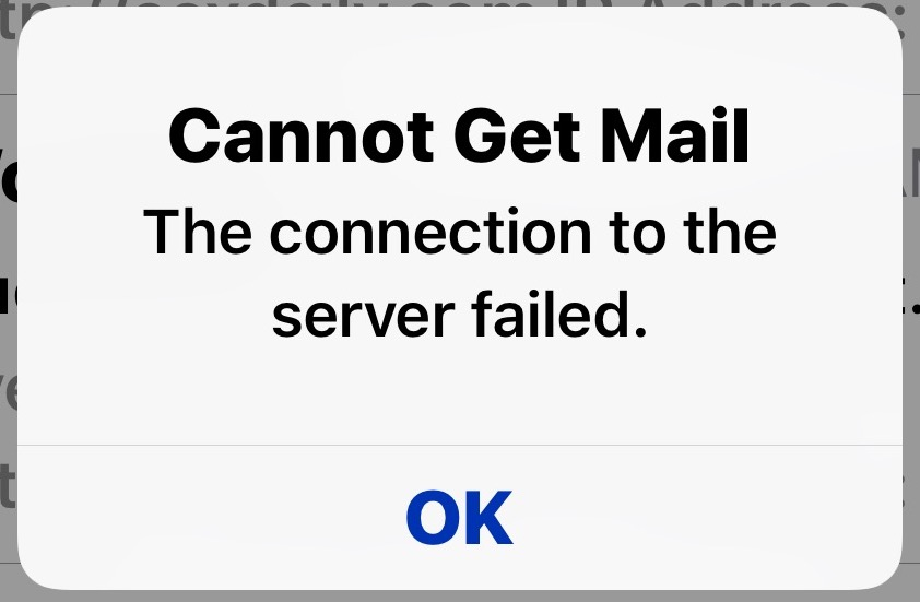 "How to Fix ""Cannot Get Mail"" Error on iPhone and iPad 
