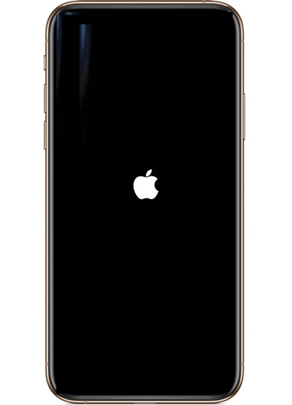 Forced restarting an iPhone XS Max