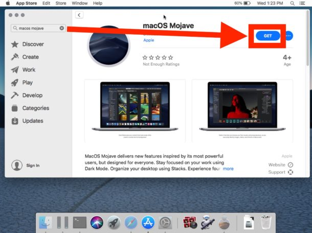 How to redownload Mac OS Mojave installer from Mojave