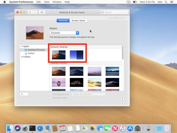 How to use Dynamic Desktops on Mac