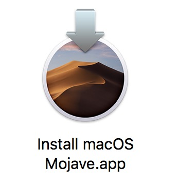 The Installer application for MacOS Mojave