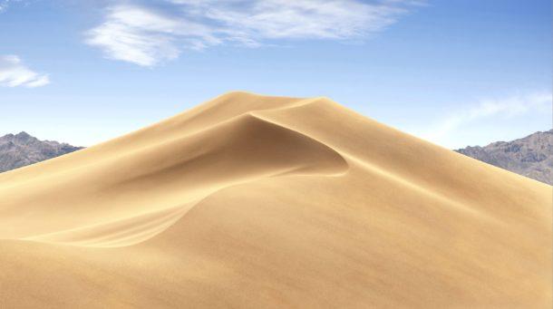 Bright Dynamic desktop picture of desert wallpaper in Mojave