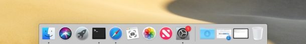 Recent Applications in Mac Dock disabled