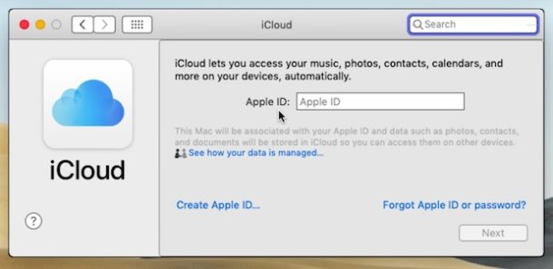 Removing an Apple ID and iCloud account from a Mac