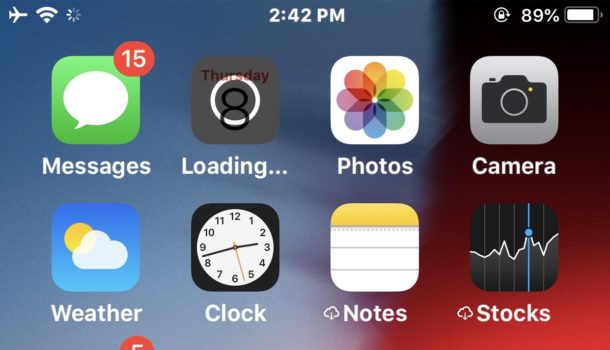 How to get rid of cloud symbol next to app name in iOS