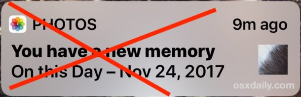 How to Disable the You have a new memory Photos alert on iPhone or iPad