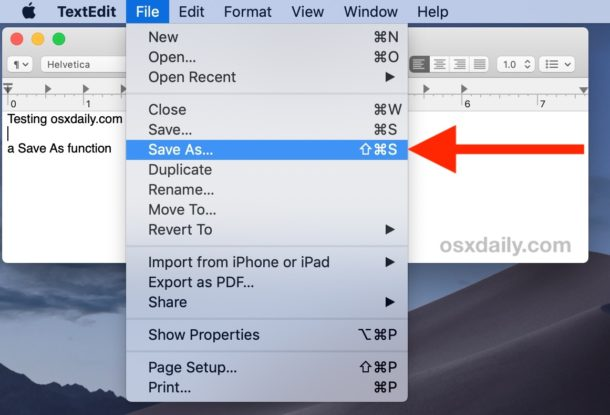 Save As is now visible by default in the File menu again for Mac and available as keystroke