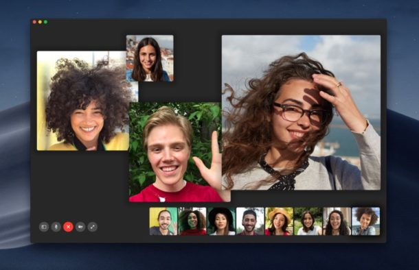 Group FaceTime on Mac pic from Apple