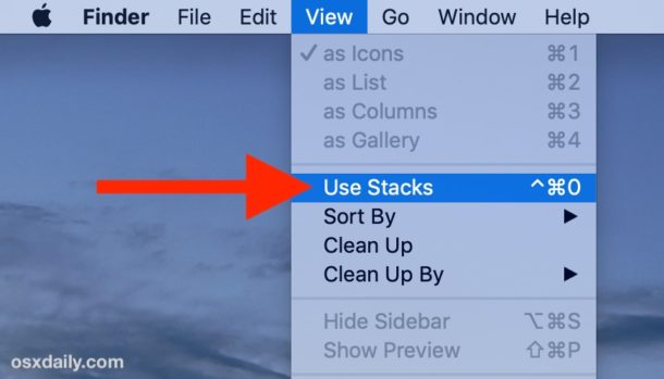 How to enable Stacks in MacOS Desktop