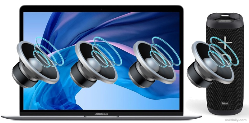 How to Connect a Mac to Bluetooth Speaker  OSXDaily