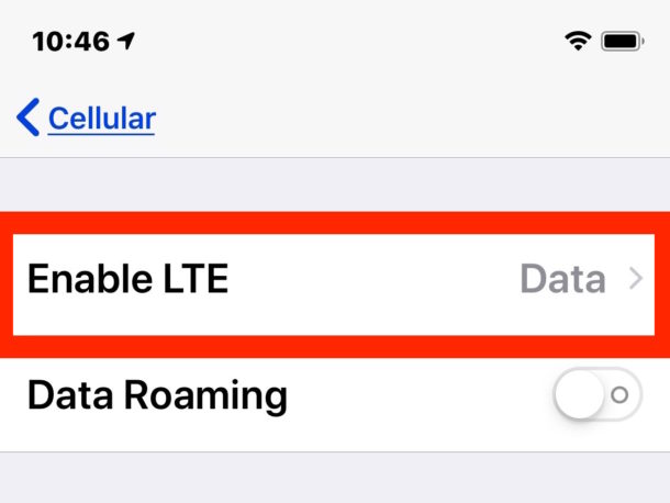 How To Fix Cellular Update Failed On Iphone With Ios 12 1 2 Sms Lte Cellular Data Issues Osxdaily