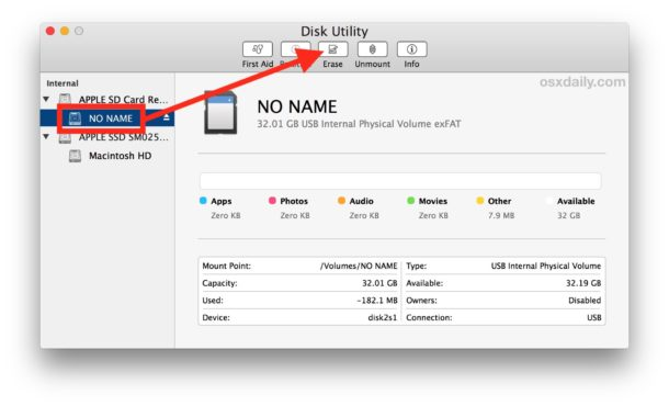 How to format an SD Card on Mac