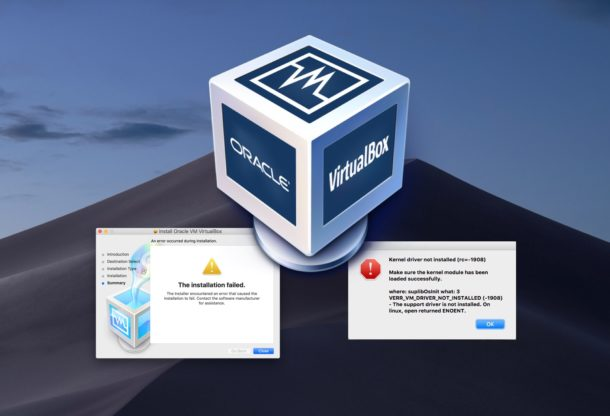 Install and run Virtualbox in MacOS Mojave