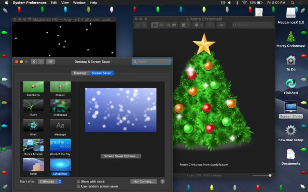Mac Christmas desktop decorations