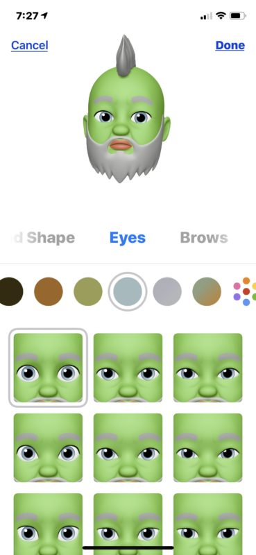 Making custom Memoji Animoji on iPhone