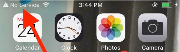 No Service iPhone cellular problem